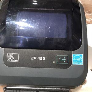 Zebra ZP 450 Thermal printer With 20 Rolls for Sale in Huntington Beach, CA