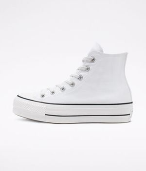 Converse Women's Platform Chuck Taylor All Star Lift Hi Trainer | White / White for Sale in Palo Alto, CA