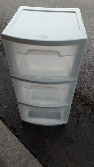 Plastic 3 drawer container for Sale in Hilliard, OH