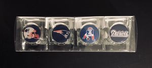 New England Patriots NFL Football Shot Glass 4-Pack - BRAND NEW!! for Sale in Citrus Heights, CA