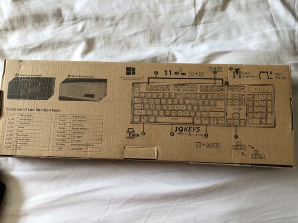 Brand New in Box Sky tech computer gaming Keyboard & mouse lighting Model K-1000