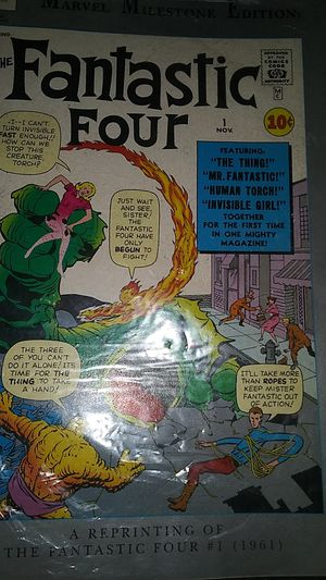 Fantastic four # 1 edition still in plastic and boarded for Sale in New York, NY