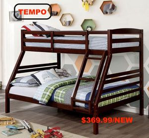 Twin over Full Bunk Bed, Brown for Sale in Downey, CA