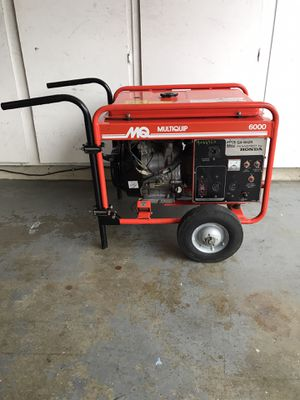 Multiquip 6000 watt 120/240v generator with Honda motor for Sale in Pleasanton, CA