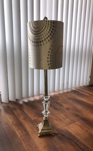 Vintage Gold Metallic Lamp for Sale in Baltimore, MD