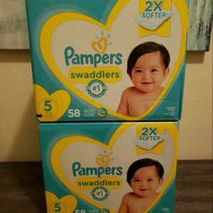 2 Boxes Of Pampers Diapers Size 5 for Sale in Bonita, CA