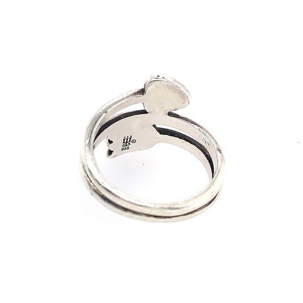 Silver James Avery heart/arrow ring
