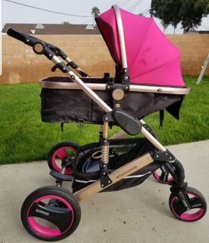 2 in 1 Baby Carriage, Bassinet, Pink Stroller for Sale in Carson, CA