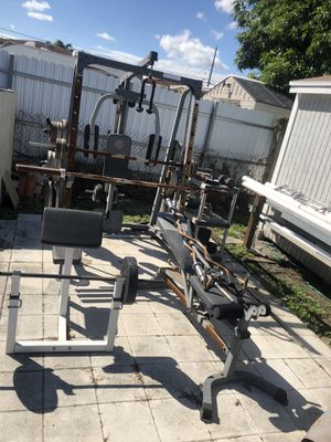 Lifting benches with weights for Sale in Coral Gables, FL