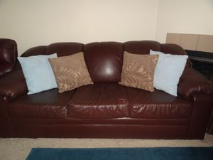 3 Piece Leather Living Room Set (Sofa, Loveseat, Recliner) for Sale in Nashville, TN