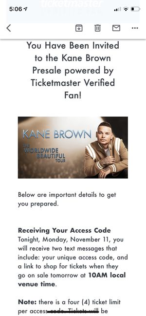 Kane Brown tickets Allentown PA. March 1st 7pm for Sale in Homewood, IL