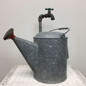 Watering Can Fountain and Faucet Galvanized for Sale in Irvine, CA