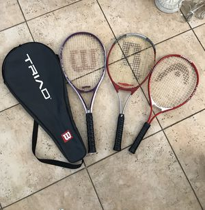 Tennis rackets Wilson, Prince, Head ti for Sale in Highland, CA