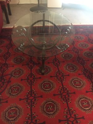 Glass coffee table with steal for Sale in Fremont, CA