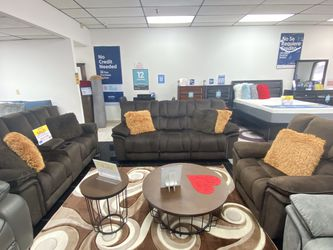 SALE!!! Barcelona Fabric Brown Or Gray Reclining Sofa, Loveseat And Chair. No Credit Needed Financing. SAME DAY DELIVERY 🚚 for Sale in Tampa,  FL