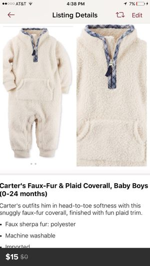 Great for cold weather onesie for 9 month old baby for Sale in Los Angeles, CA