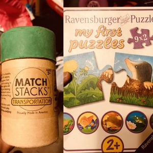 Matching / Memory Game And My First Puzzle Like New for Sale in Brooklyn, NY