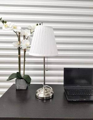 Silver and White Table Lamp for Sale in Fort Lauderdale, FL