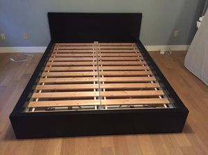 Black Queen Size Bed Frame ( Great Condition) for Sale in Salem, OR