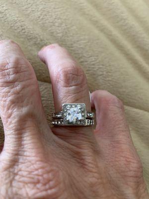 New 2 piece CZ 1.75 wedding ring size 7 for Sale in Palatine, IL