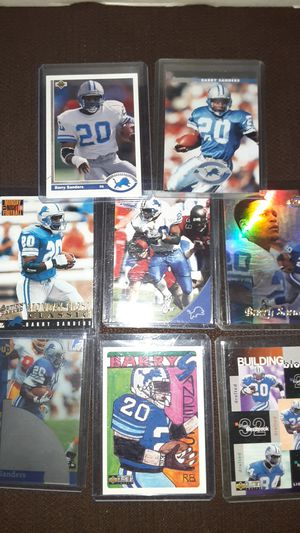 Barry Sanders card lot w/ Topps Gold refractor for Sale in Laveen Village, AZ