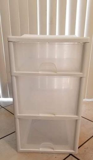 3-Drawer White Plastic Storage for Sale in Peoria, AZ