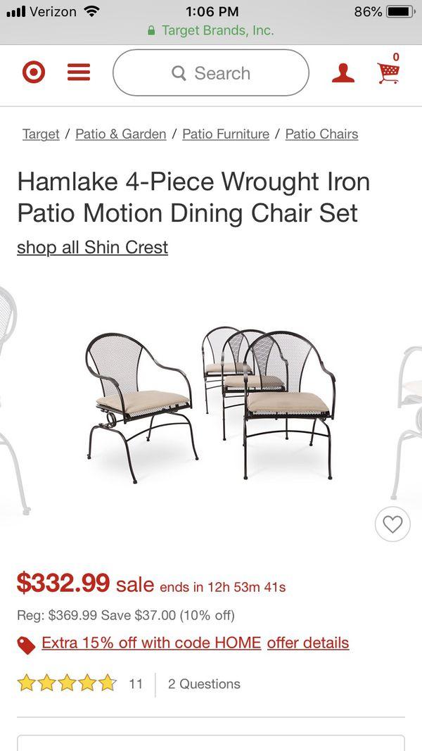 Hamlake Wrought Iron Patio Furniture.Hamlake Wrought Iron Patio Dining Chairs New For Sale In Lebanon Tn Offerup