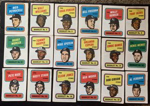 1970 Topps Baseball Card Booklets 18 Different inc Rose Banks Gibson for Sale in Brea, CA