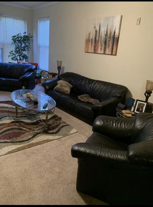 Real Leather Sofa Set for Sale in Atlanta, GA