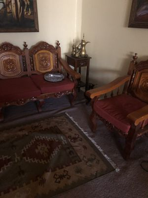 Moroccan furniture sofa/ chair/divider/rug all for $500 OBO for Sale in Chandler, AZ