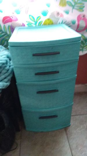 Turquoise plastic storage drawers for Sale in Gardena, CA