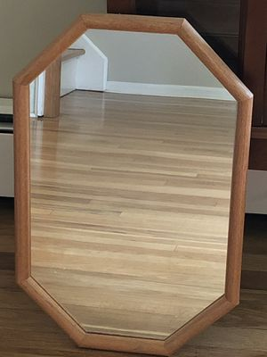 "Octagonal wooden framed wall mirror. Measures approximately 15"" x 23"". for Sale in Clark, NJ"
