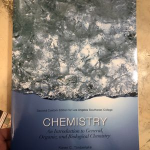 Chemistry: An Introduction To General, Organic, And Biological Chemistry By Karen C. Timberlake for Sale in Inglewood, CA