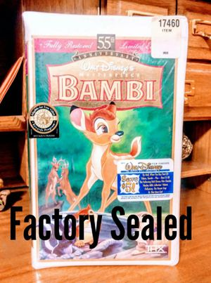 Disney's Bambi VHS VCR Movie (New) for Sale in Modesto, CA