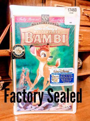Disney's Bambi VHS VCR Movie (New) for Sale in Modesto, CA