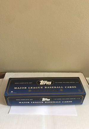 Topps 2002 Major League Baseball cards complete set series 1 & 2 for Sale in Columbus, OH