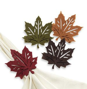New set of 8 fall / Thanksgiving leaf napkin rings - dining room for Sale in Henderson, NV