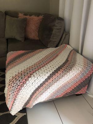 Crochet Blanket/Throw Handmade for Sale in Fort Lauderdale, FL