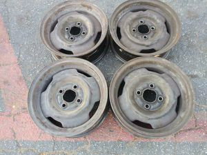 14 inch four lug steel rims Mustang and more. 4x108mm for Sale in Montebello, CA