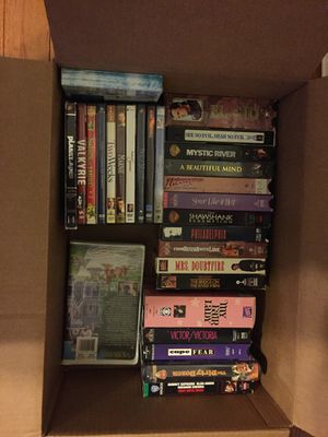 Old classic movies collection in VHS and DVD for Sale in Gaithersburg, MD