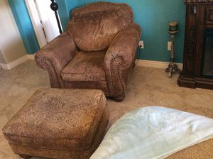 Beautiful Easy Chair with Ottoman for Sale in Gilbert, AZ