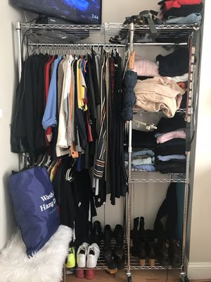 Steel Clothing Double Rack & Organizer for Sale for sale  Brooklyn, NY