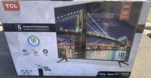"""55"""" TCL ROKU TV 4K UHD HDR SMART TV for Sale in Grand Terrace, CA"""
