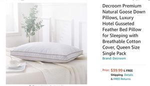 Goose down, Luxury Hotel feather Pillow.. for Sale in Portland, OR