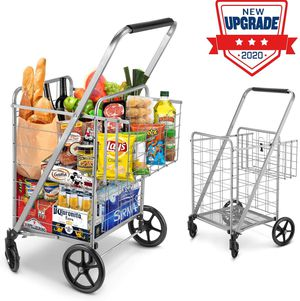 NEW Shopping Cart, Jumbo Double Basket Grocery Cart 330 lbs Capacity for Sale in Nashville, TN