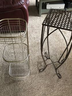A Pair Of Useful Metal Stands for Sale in Seattle,  WA