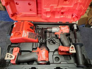 Milwaukee 18v brushless cordless hammer drill & impact driver combo. Battery included. for Sale in Mesa, AZ