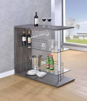 Weathered Grey Bar Unit with Tempered Glass! Lowest Prices Ever! for Sale in Sacramento, CA