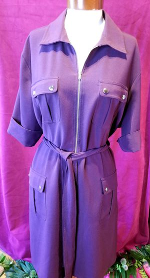 Purple Plus Size Shirt Dress 20W for Sale in Chandler, AZ