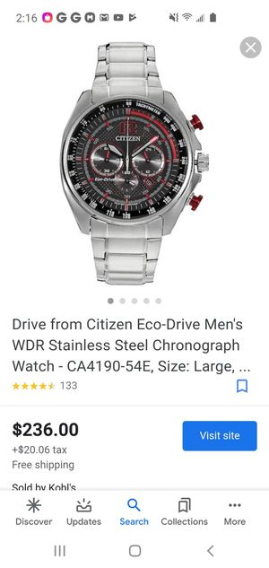 !!!!!!!!!!Eco-Drive Red Accent Citizen!!!!!! for Sale in Thornton, CO